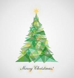 Christmas tree9 vector image vector image