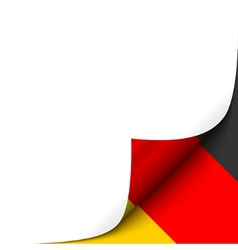 Curled paper corner with germany flag background vector