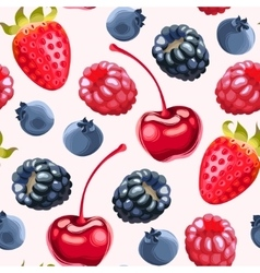Delicious ripe berries seamless vector image