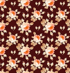 Elegance Seamless pattern with flowers roses vector image vector image