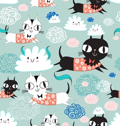 Funny texture of the kittens vector