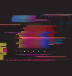 glitch abstract background glitched horizontal vector image