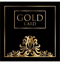 Gold card cover design excellent cover vector