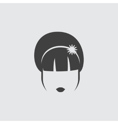 Hairstyle icon icon vector image vector image