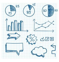 Hand-drawn finance elements vector