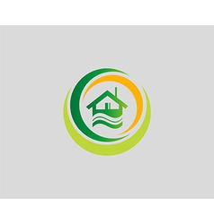 Houses symbol elements also a logo idea vector image