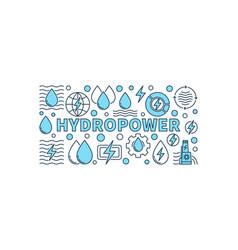 Hydropower minimal banner vector