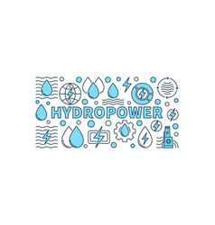 hydropower minimal banner vector image