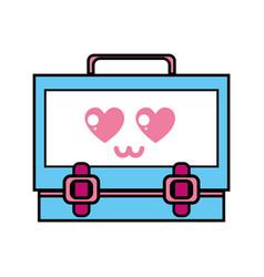 Kawaii cute tender suitcase design vector