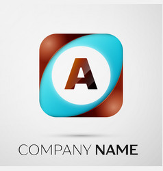 letter a logo symbol in the colorful square on vector image vector image