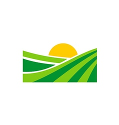 Nature village organic land logo vector