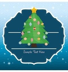 Pine tree cartoon of chistmas design vector