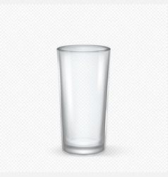 realistic transparent empty glass closeup vector image vector image