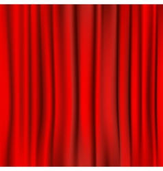 red curtain background vector image