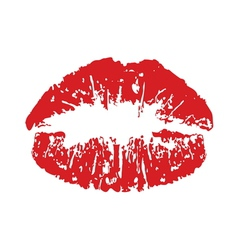 Red kiss print vector