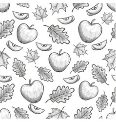 seamless pattern with apples vector image