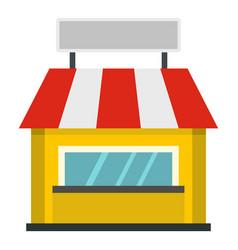 Shop building facade with signboard icon isolated vector