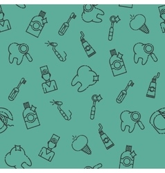 Stomatology set pattern vector