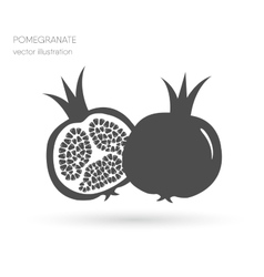 Two juicy ripe pomegranate pomegranates vector image vector image