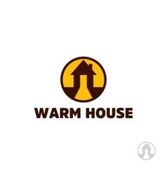 Warm house logo real estate logo house logo vector