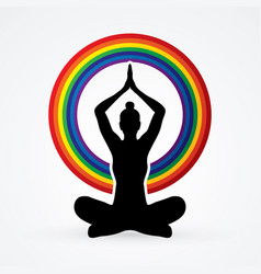 Yoga sitting pose vector
