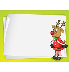 A paper sheets and a reindeer vector