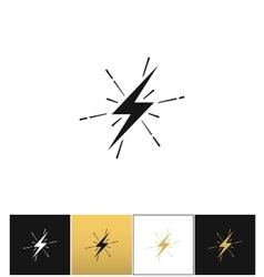 Lightning thunderbolt sign or strike electric bolt vector image
