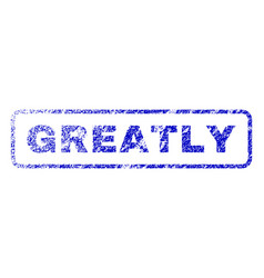 Greatly rubber stamp vector