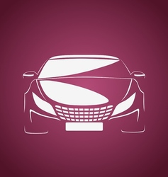 Auto in pink vector image