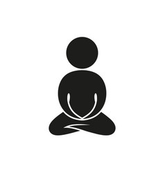 Monochrome abstract meditating people vector