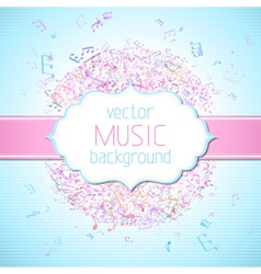 Colourful music background vector
