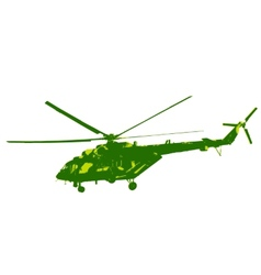 Russian army Mi-8 helicopter vector image