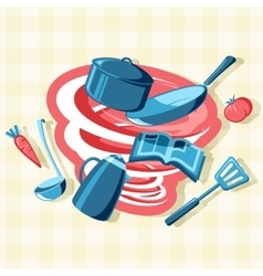 Mess in the kitchen vector