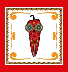 Day of the dead pepper vector
