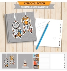 Aztec printable set vector