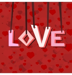 Heart love background vector