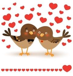 with two cartoon birds vector image
