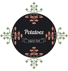 Potatoes vegetables vector