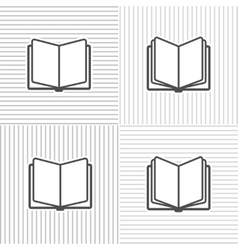 Book icons on stripped background vector