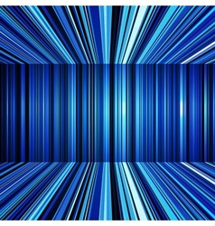 Abstract blue warped stripes background vector