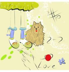 artistic sketch vector image vector image