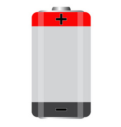 battery icon on white background battery sign vector image
