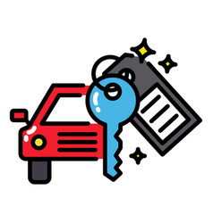Car rental or sharing economy concept icon vector
