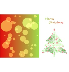 christmas card with tree of ball and background vector image vector image