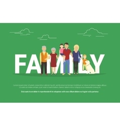 Concept of big family portrait vector image vector image