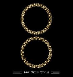 elegant antiquarian golden circle frames in art vector image vector image
