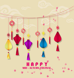 Happy mid autumn festival chinese background vector