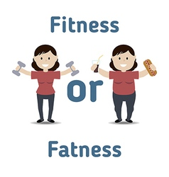 Healthy and unhealthy lifestyle concept vector image vector image