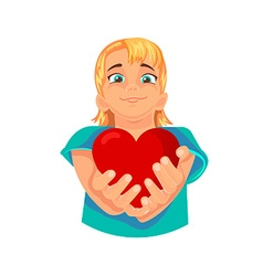 Heart in the hands vector