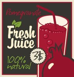 juice pomegranate vector image